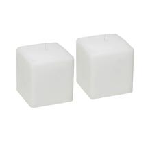 Kit de Velas Quadradas Brancas 2 Unidades