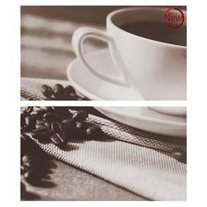 Kit Decorado Brilhante Bold Decorado Café Cores 32,5x57cm Faces 2 peças Eliane