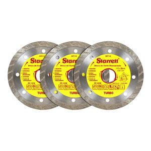 Kit Discos Diamantados Turbo 3 Peças Starett