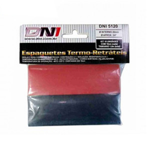 "Kit Espaguete Termo Retrátil 10 unidades de 100x20mm 3/4"""