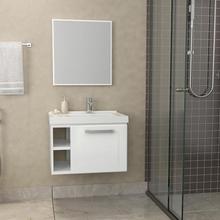 Kit Gabinete de Banheiro Metal 39x52x39cmBranco Amora Cozimax