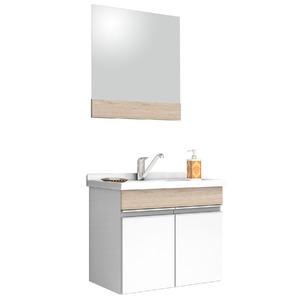 Kit Gabinete de Banheiro Com Espelho Proppus MDF Berlin Com Cuba Cerocha