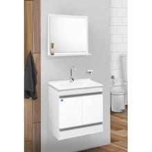 Kit Gabinete de Banheiro Star 60 58x56x34cm Branco Sensea