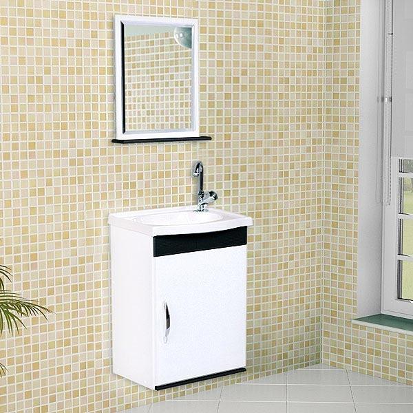 Artesanato Angelica Martins ~ Conjunto para Banheiro Madeira Branco e Preto 58,50×38,90×27,90cm Verona A J Rorato Leroy Merlin