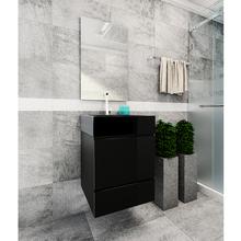 Kit Gabinete de Banheiro Versalhes 63,5x40x40cm Preto Venturi