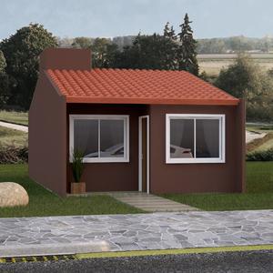 Kit House Estrutura Metálica Telhado e Parede Pré-Montada com Revestimento 6x6m Imecon
