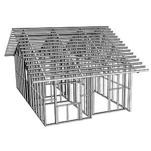 Kit House Estrutura Metálica Telhado e Parede Pré-Montada 6x8m Imecon