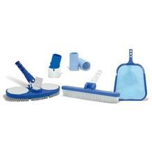 Kit Manutenção para Piscina Plástico 29x50cm Azul/Branco CMB Aqua