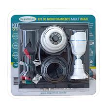 Kit Monitoramento 4 Canais com 2 Câmeras HD Segurimax