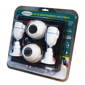 Kit Monitoramento 4 Canais com 4 Câmeras HD Segurimax