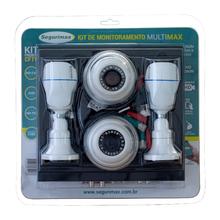 Kit Monitoramento 8 Canais com 4 Câmeras HD Segurimax