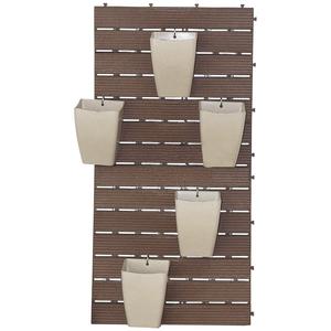 Kit para jardim vertical pl stico revestwall marrom 101 - Leroy merlin jardin vertical besancon ...