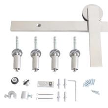 Kit para Porta de Correr 50Kg Aço Inox Escovado 1 Porta Eco Geris