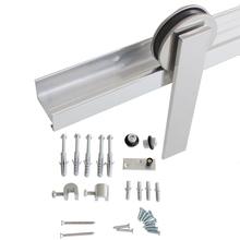 Kit para Porta de Correr 50Kg Alumínio Escovado 1 Porta H401AE Geris