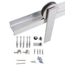 Kit para Porta de Correr 50Kg Aluminio Polido 1,5 Porta H400AP Geris