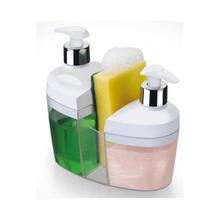 Kit Pia 3x1 Branco (Detergente, Porta Sabonete e Porta Bucha) 1176 Arthi
