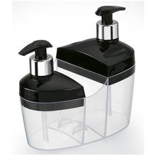 Kit Pia 3x1Preto (Detergente, Porta Sabonete e Porta Bucha)  8020 Arthi