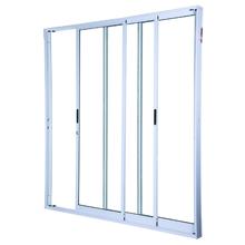 Kit de Porta Montada de Correr Lisa de Alumínio 2,15x2,00m 3A Alumínio