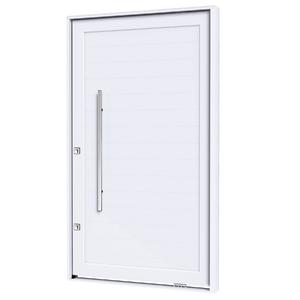Porta montada pivotante decorada alum nio direito 2 25x1 - Porta pvc leroy merlin ...