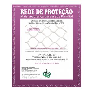 Kit Rede Proteção Preta 3,5x12m