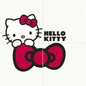 Kit Revestimento Decor Laço Hello Kitty 40x40cm 4Peças