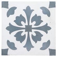 Ladrilho Hidráulico Amaralis Azul/Branco 20x20x1,9cm Cimartex
