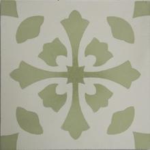 Ladrilho Hidráulico Decorativo Amaralis Verde Claro 20x20cm Cimartex