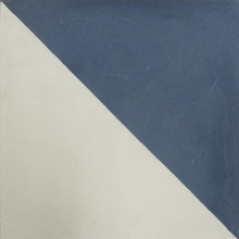 Ladrilho Hidráulico Decorativo Bandeira Azul Escuro 20x20cm Cimartex
