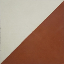 Ladrilho Hidráulico Decorativo Bandeira Vermelho 20x20cm Cimartex