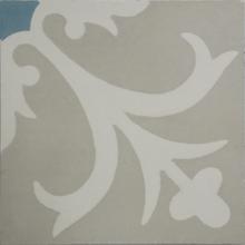 Ladrilho Hidráulico Decorativo Floral Branco 20x20cm Cimartex