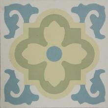 Ladrilho Hidráulico Decorativo Floral Tifany Verde 20x20cm Cimartex