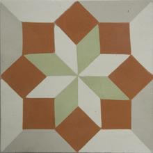 Ladrilho Hidráulico Decorativo Losango Terra 20x20cm Cimartex