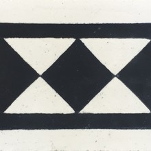 Ladrilho Hidráulico Faixa Cubos Preto e Branco 20x10cm Cimartex