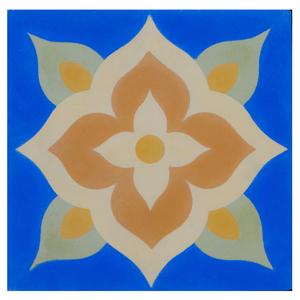 Ladrilho Hidráulico Flor Azul 20x20x1,9cm Cimartex