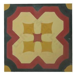 Ladrilho Hidráulico Flor De Lotus Bege 20X20cm Art Cores