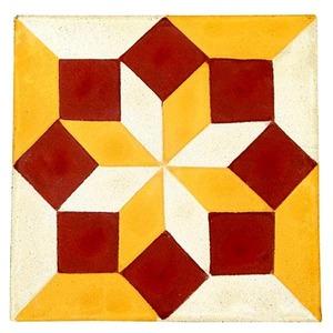 Ladrilho Hidráulico Losango Colorido 20x20x1,9cm Cimartex
