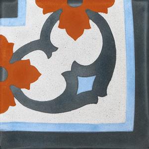 Ladrilho Hidráulico Melissa Canto Colorido 20x20x1,9cm Cimartex
