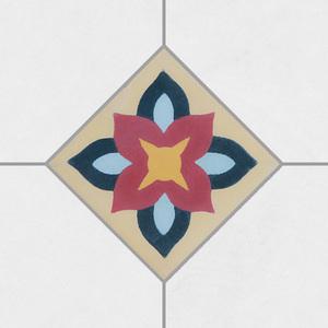 Ladrilho Hidráulico Tozeto Azaléia 10x10x1,9cm Cimartex