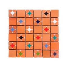 Lajota Telado Estrelas Policromia 33x33cm Fênix