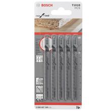 Lâminas com 5 peças T-T C.Mad/Plast 3-30mm T101B Bosch