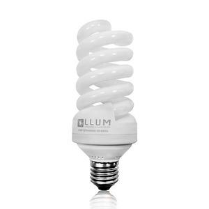 Lâmpada Fluorescente LLUM Alta Potência Espiral 60W Luz Branca Intensa (6500K) 127V (110V)