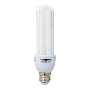 Lâmpada Fluorescente Ourolux 3U 25W Amarela 250V (220V)