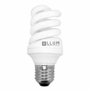 Lâmpada Fluorescente LLUM Espiral 20W Luz Branca Intensa (6400K) 250V (220V)