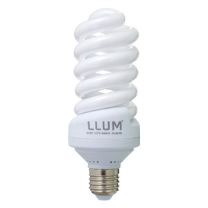 Lâmpada Fluorescente LLUM Espiral 25W Branca 127V (110V)