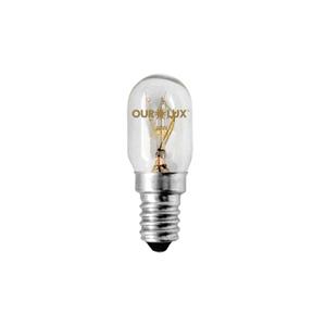 Lâmpada Incandescente Geladeira e Micro Luz Amarela 15W Ourolux 220V
