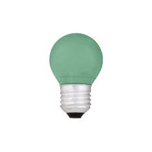 Lâmpada Incandescente Bolinha Luz Verde 15W Kian 127V (110V)