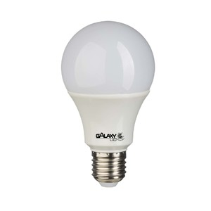 Lâmpada LED Bulbo Luz Amarela 9W Bivolt Galaxy LED