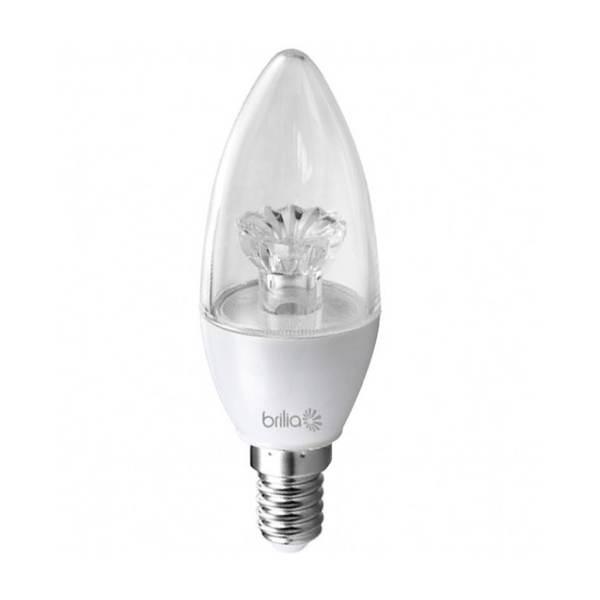 Lampada E12 Led Vela: Lâmpada LED Vela Luz Amarela 3W Brilia Bivolt