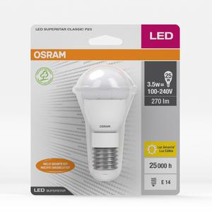 Lâmpada LED Certificada Osram Bolinha 3,5W Amarelo Bivolt