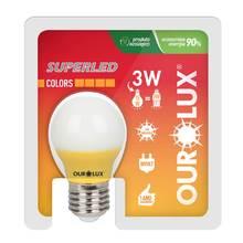 Lâmpada LED Certificada Ourolux Bolinha Amarela 5W Bivolt